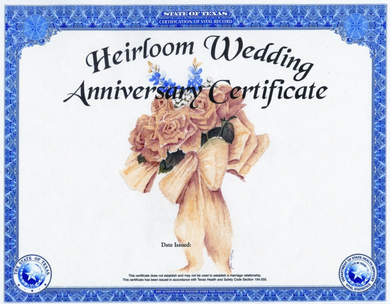 Heirloom Wedding Anniversary